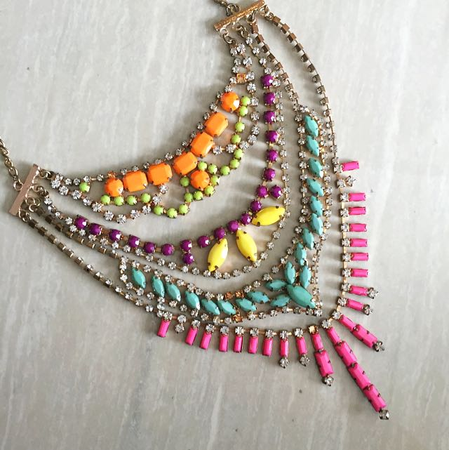 Nastygal - Tier Multicolor Jewel Necklace