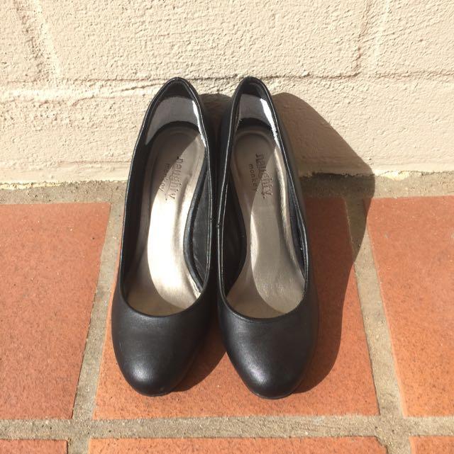 Naughty Monkey Black Shoes
