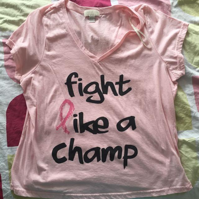 """Pink """"Fight like a Champ"""""""