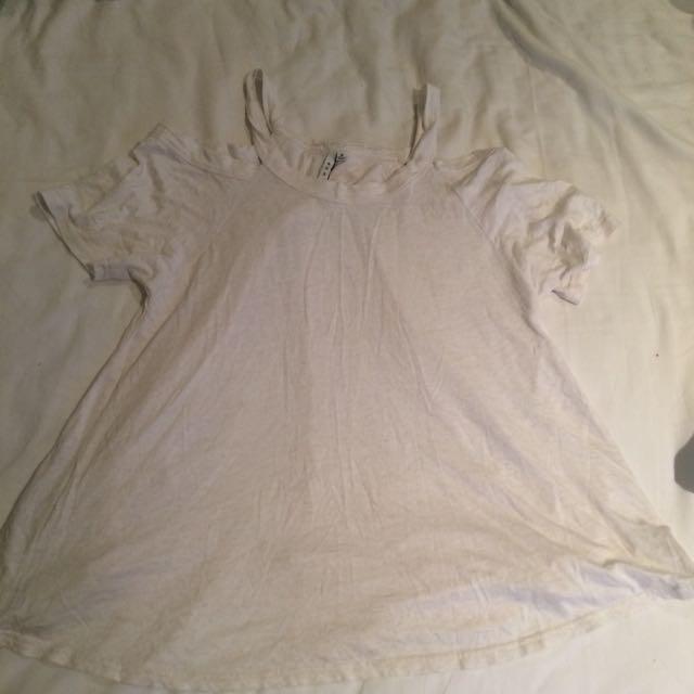 Roxy Cut Out Shoulder Split Back Shirt