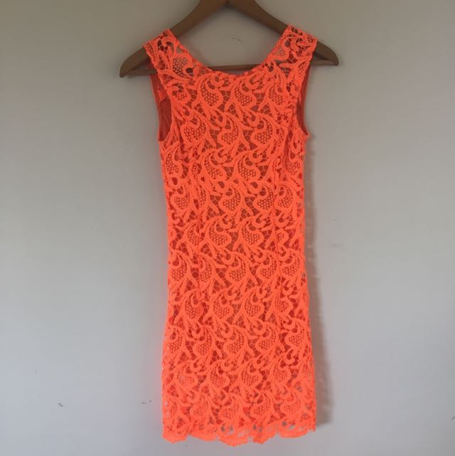 Fluro Orange Dress- Sabo Skirt