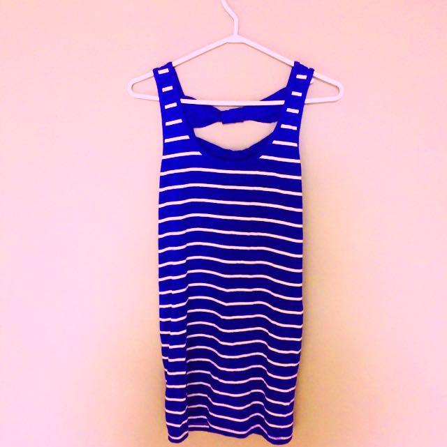 Sailor Stripped Mini Dress