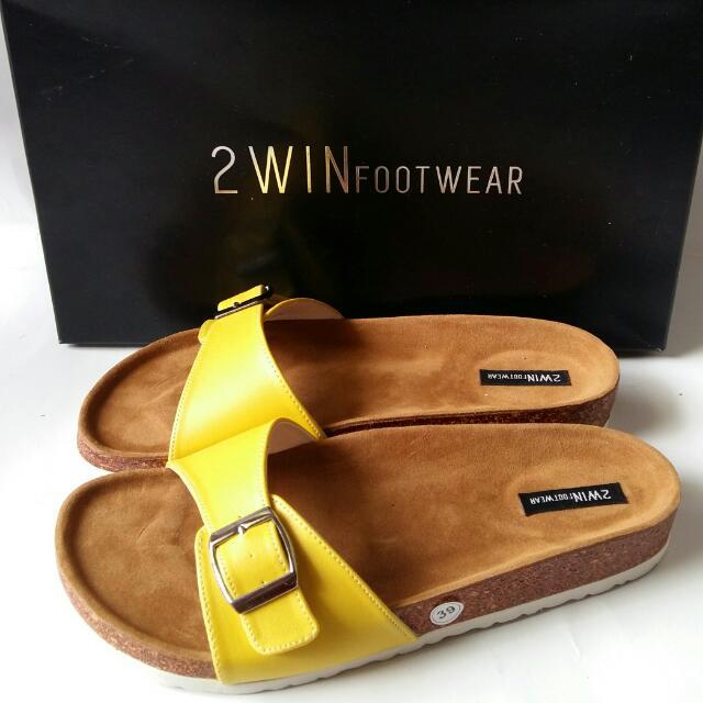 Sandal Wanita Kode SP113 (kuning) Ukuran 36 37 38 40