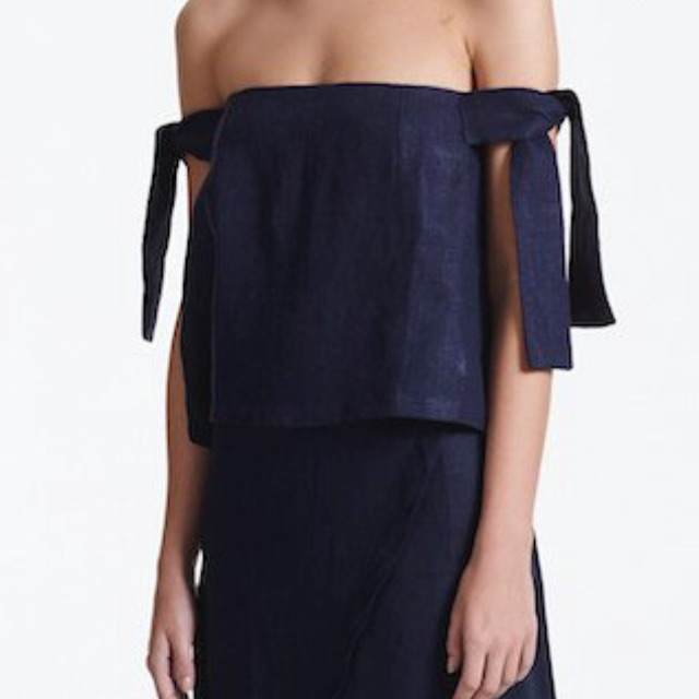 Sir the label 'kobi linen strapless top'