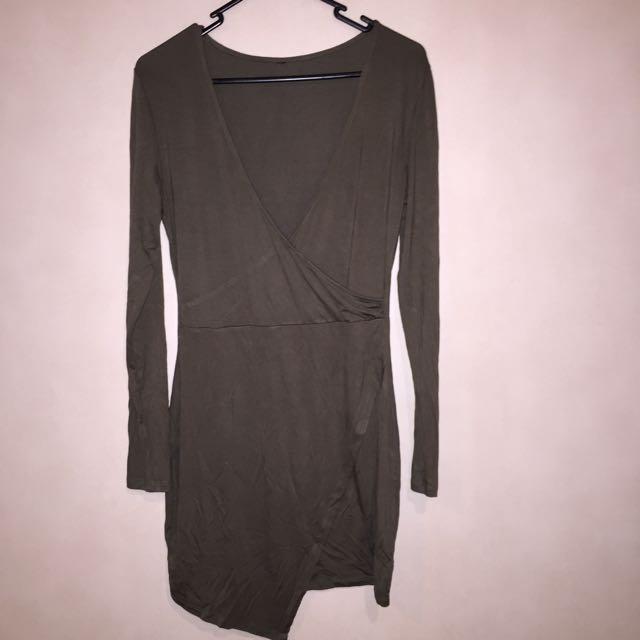 (Size:10) Khaki Dress