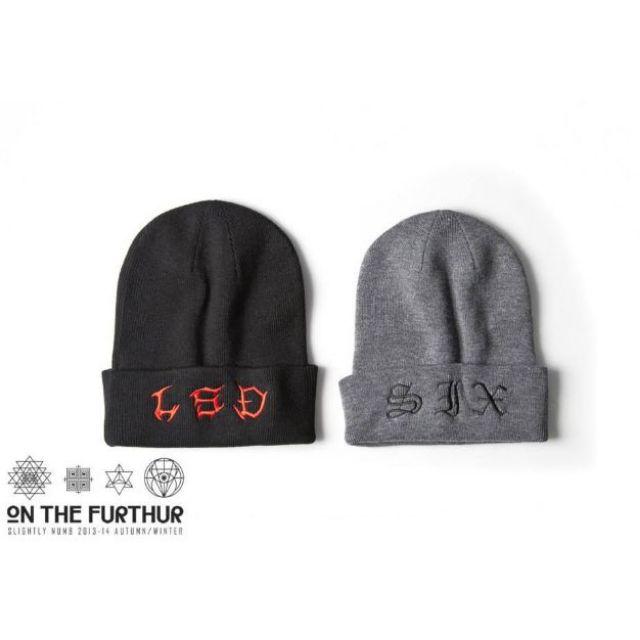 <全新>Slightly Numb 2013AW WALKER BEANIE 迷幻字眼 電繡設計 毛帽 原價1080