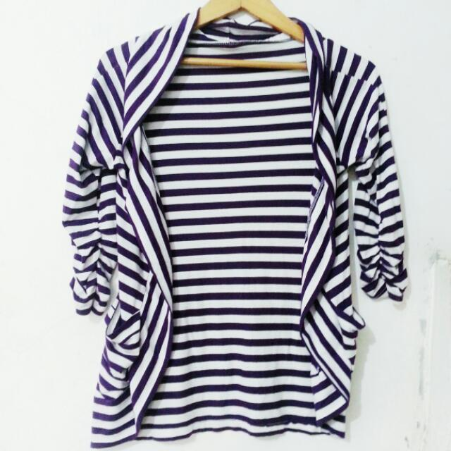 STRIPES CARDIGAN/OUTER