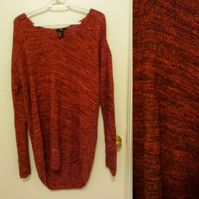Sweater Dress Knit Deep Orange