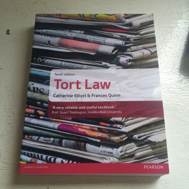 Tort Law A Levels Textbook(not Used)