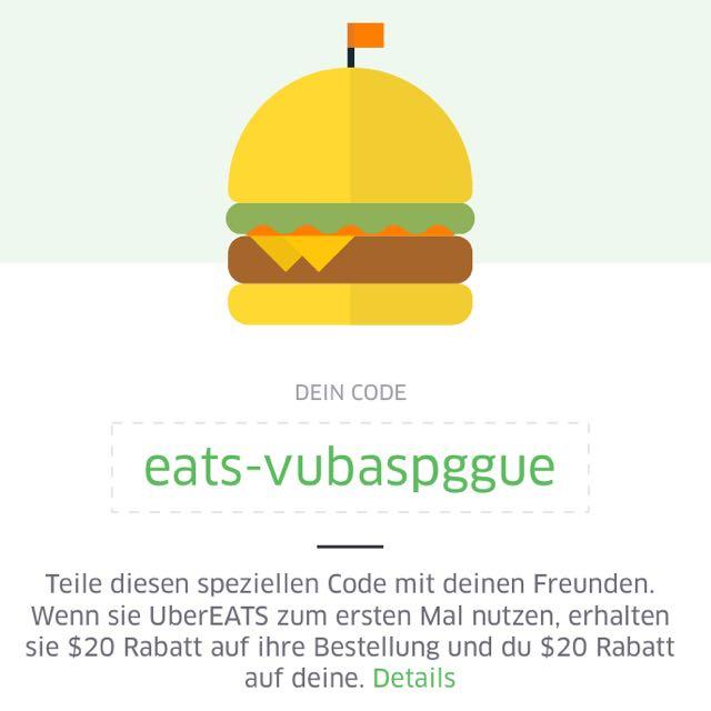 Uber Eats 20$ Off