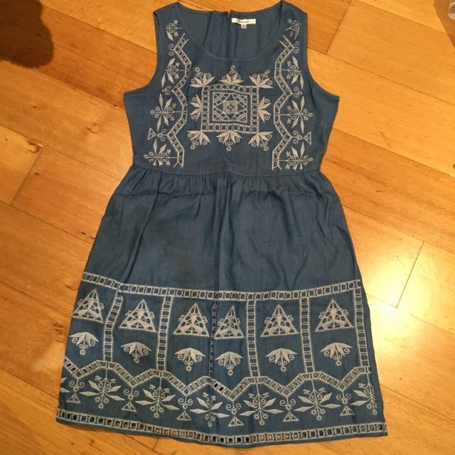 Valley Girl Denim Dress
