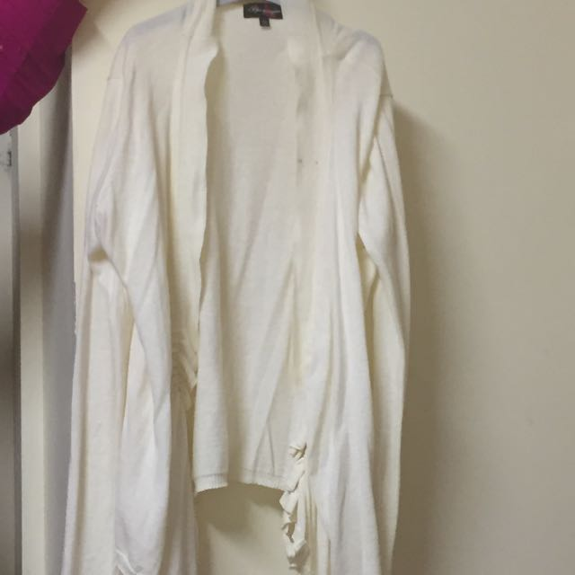 White Cardigan Size L