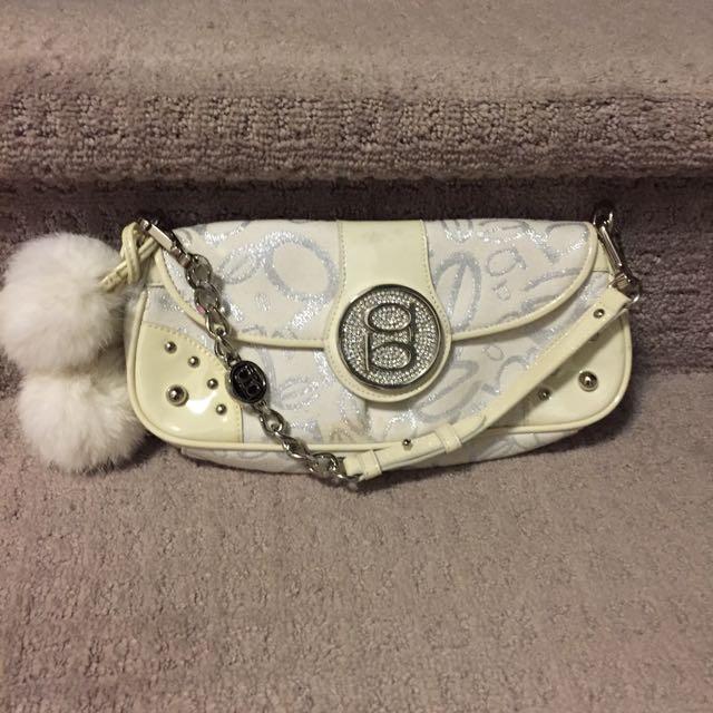 White Pom Pom Bebe Handbag