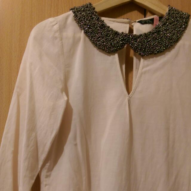 德國帶回Zara手工繡珠上衣