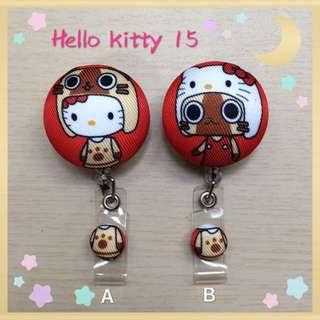 🚚 Hello Kitty 15。手作伸縮證件夾
