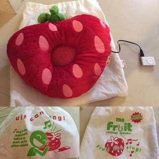 草莓音樂枕有附防塵袋