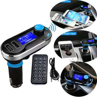 BLUETOOTH CAR KIT MP3 PLAYER CHARGER FM TRANSMITTER