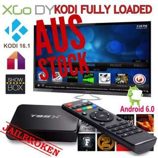 T95X ANDROID TV BOX FULLYLOADED MOVIES TV SPORTS UFC EPL