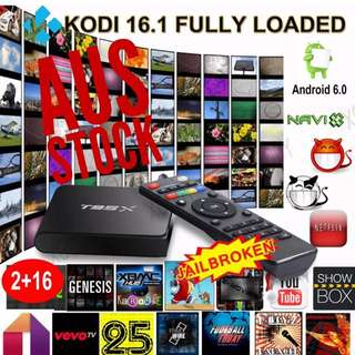 T95X ANDROID TV 2/16GB FULLYLOADED Movies TV SPORTS
