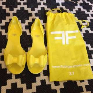 Yellow Jelly Sandals Size 37