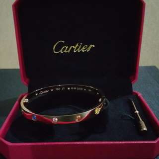 Multi Coloured Stones Cartier Bangle