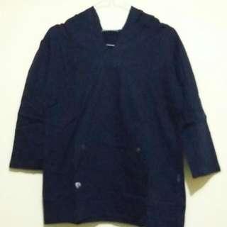 Perruzi Navy Hoodie Shirt