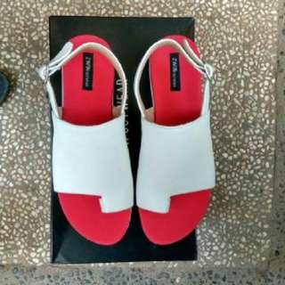 Sepatu Wanita platform Kode PF211 putih Merah Ukuran 40