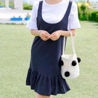 (韓國代購)Tom&Rabbit圓領連身裙套裝