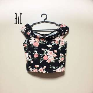 F21 Floral off-shoulder tops