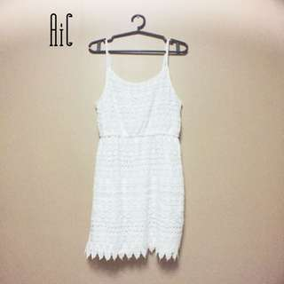 H&M all white dress