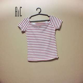 Red&White striped shirt
