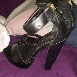 Black London Rebel Heels