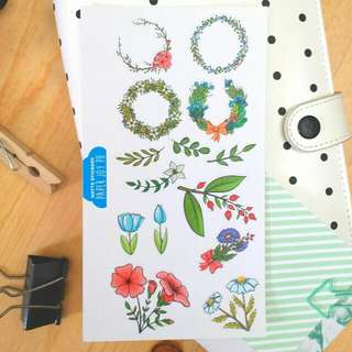 Decorative Stickers For Crafting, Scrapbooking, Journaling and Planning | Hand Drawn Florals