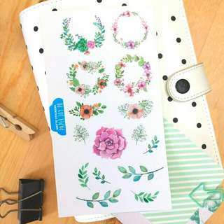 Decorative Stickers For Crafting, Scrapbooking, Journaling and Planning | purple Florals