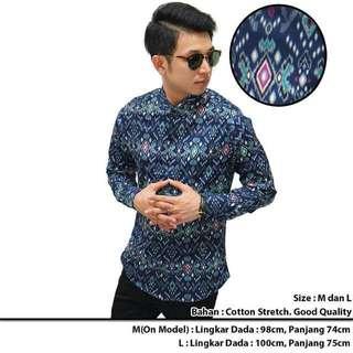 Kemeja Batik Cotton Stretch Good Quality