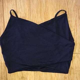 Kookai Black Crop top