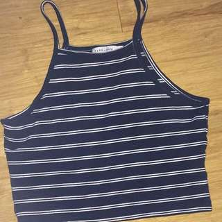 Navy stripped Crop Top