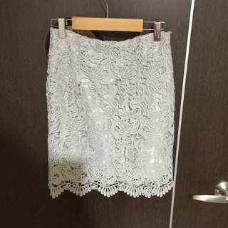 全新*蕾絲窄裙