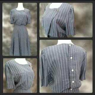 Stripes Dress In Denim