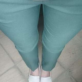 正韓 韓製 西裝褲打摺褲 M顯瘦 修身 墨綠 Nude Rei Zara 韓妮 Yola