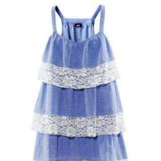 H&M Blue Flared Dress