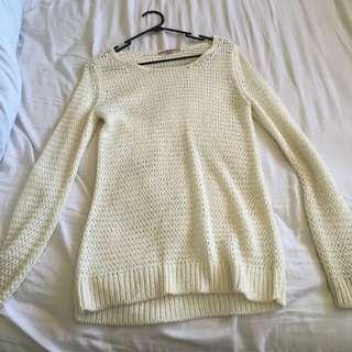 Cream White Knit Jumper