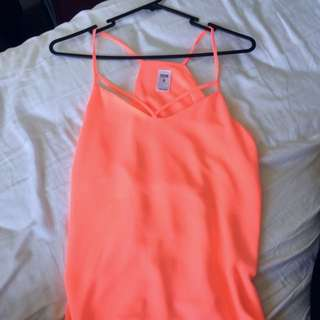 Coral Pink Strappy Camisole Singlet