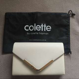Colette By Colette Hayman Nude Clutch