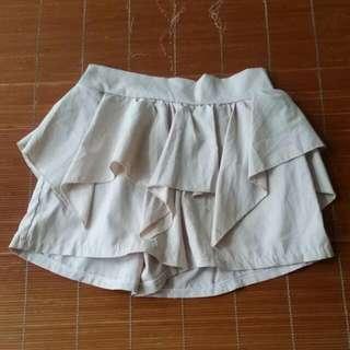 [二手]卡其色褲裙