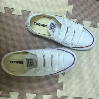 Converse Chuck Taylor All Star V3 白色 魔鬼氈 復古 低筒 帆布鞋