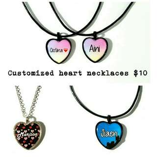 Customized Heart Necklaces