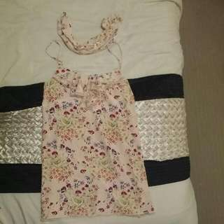 Dress With Tye Up Neck Rope