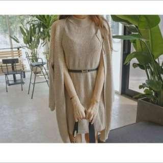 (韓國代購)Tom&Rabbit 針織罩衫+連身裙套裝