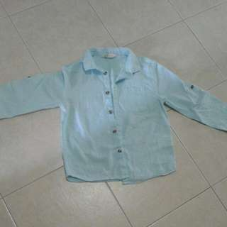 H&M Tiffany Blue Long Sleeve Shirt